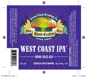 Green Flash West Coast IPA by Oaks Printing.