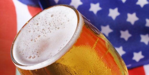 beer american flag