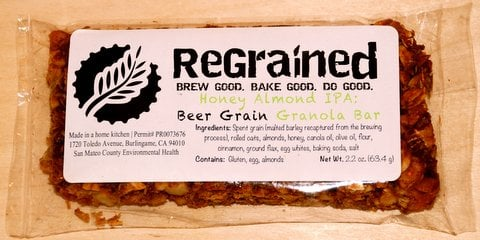 Eating Beer: ReGrained granola bars reuse spent brewing grains