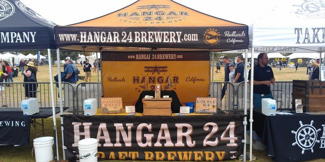 Hanger 24 beer booth
