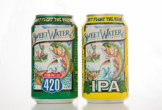 SweetWater 420 and IPA Cans