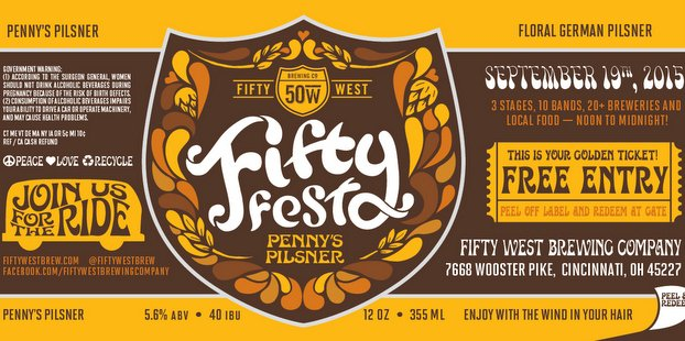FiftyFest can label