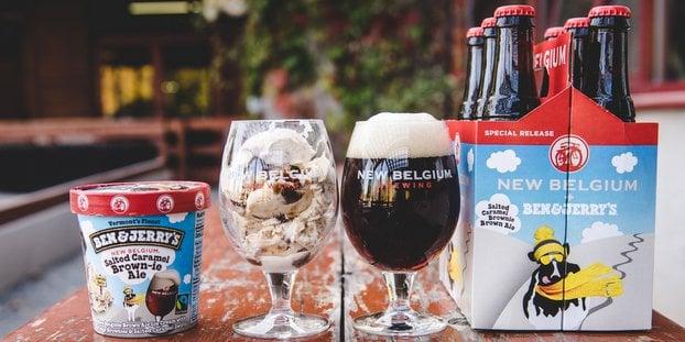 New Belgium Brewing Beer Ben Jerry Ice Cream