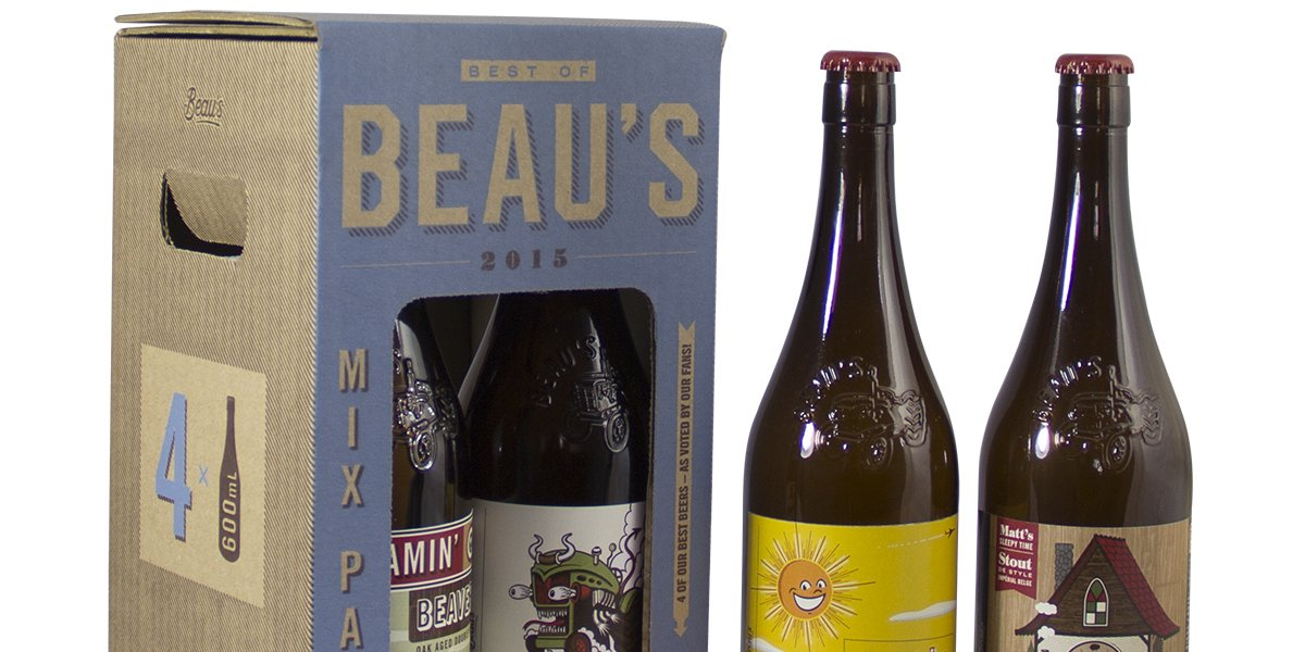 Cool collection: Beau Brewing's holiday mix pack shares four beers, recipe cards