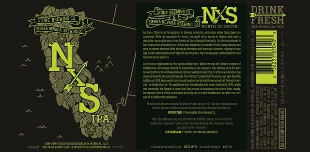 NXS Collaboration Label Stone Brewing Sierra Nevada label
