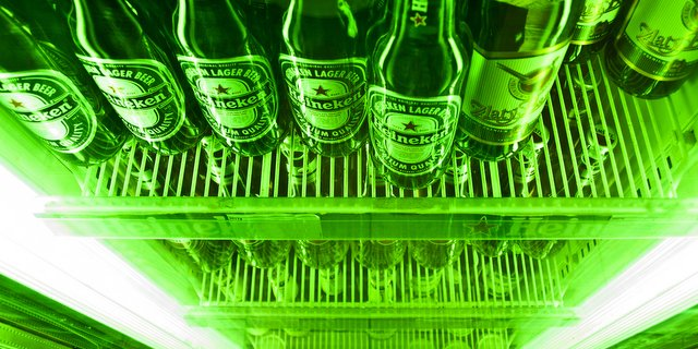 Heineken beer cooler fridge