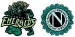 Ninkasi Brewing Eugene Emeralds logos