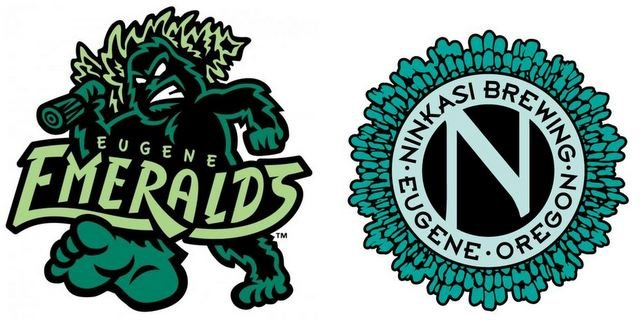 Ninkasi Brewing Eugene Emeralds logos
