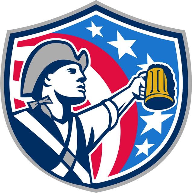 colonial beer patriot America badge