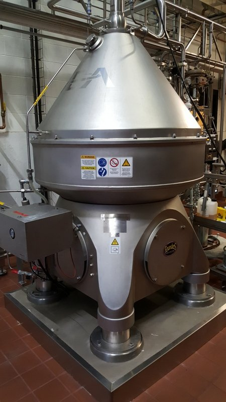 GEA Westphalia HB3si direct-drive centrifuge beer clarifier