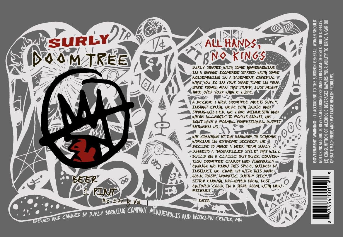 Surly Doomtree Beer label