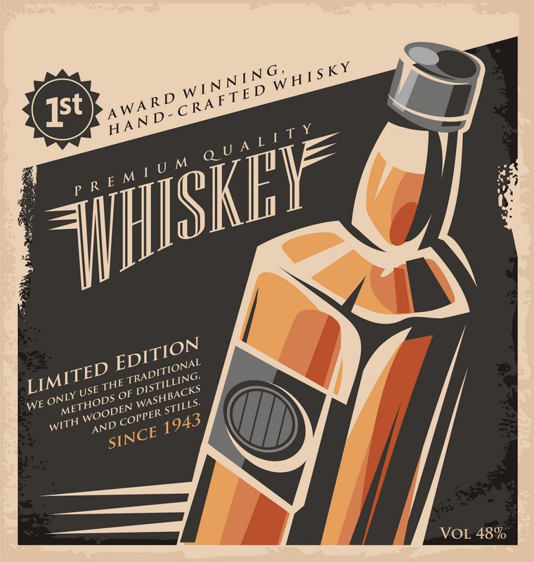 whiskey spirits advertisement