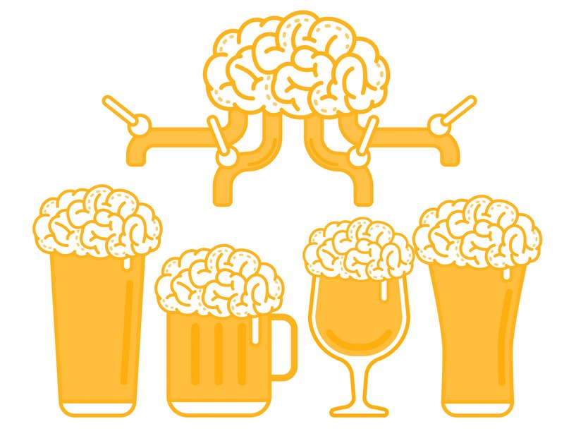 beer taps brain distribution