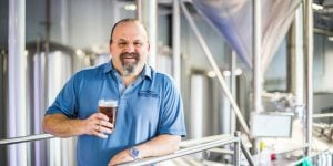 Max Pigman the proud founder of Lewis & Clark Brewing Co. cbb crop