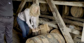 Watch: Kim Jordan hammer a bourbon barrel, talk limited collab Oakspire