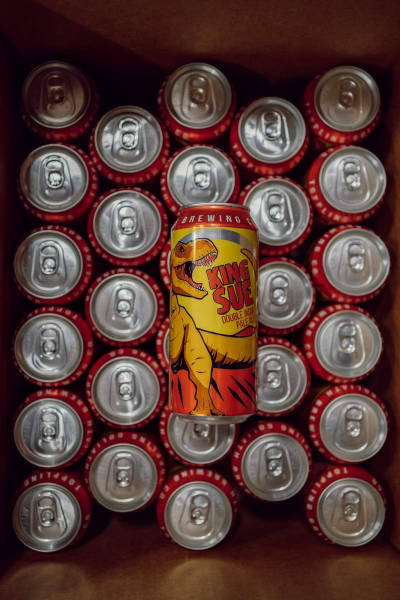 Toppling Goliath cans